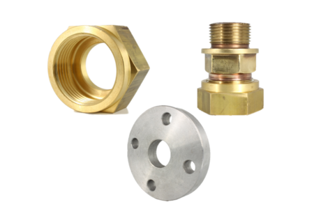 Flanges, unions and fittings